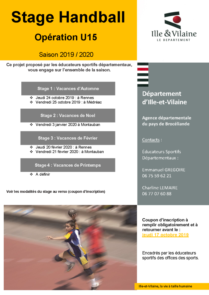stage -15 automne 2019